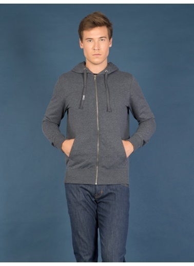 Colin's Fermuarlı Kapüşonlu Sweatshirt Lacivert